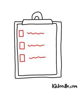 doodling a task