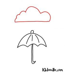 doodling an umbrella