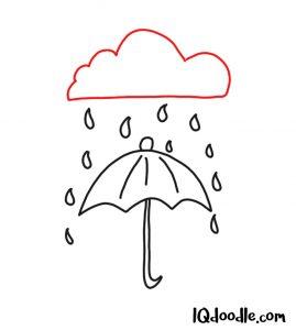 doodle an umbrella