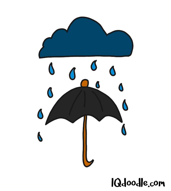 how to doodle an umbrella